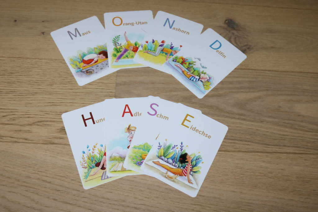 Kinderyoga Alphabet ABC Karten