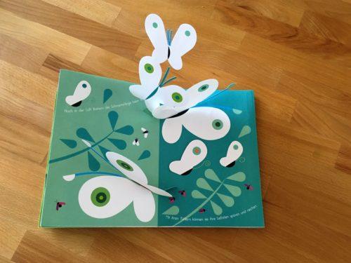 Kinderyoga Stundenbilder - Schmetterlinge