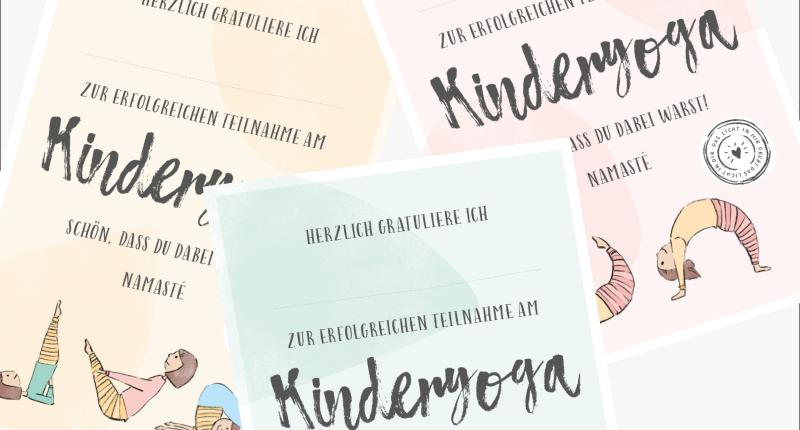 kinderyoga Urkunden - Karma Kids Yoga